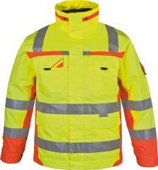 Winter-Warnschutz-Parka gelb-orange-grrau