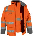 Winter-Warnschutz-Parka 3 in 1 orange PKA