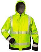 Warnschutz-Winter Softshell Jacke gelb/schwarz