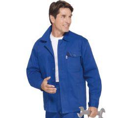 Lange PKA Baumwoll Arbeitsjacke kornblau
