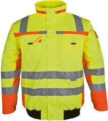 Winter-Warnschutz-Pilotenjacke gelb/orange