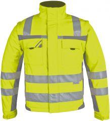 Winter-Warnschutz-Softshelljacke gelb