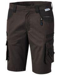 Braune Bermuda Short braun/schwarz PIONIER TOOLS