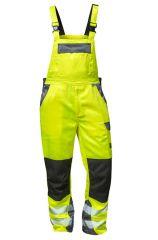 Warnschutz Latzhose gelb/grau ellysee