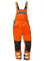 Warnschutz Latzhose orange/grau ellysee