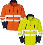 Stretch-Softshell-Warnschutzjacke orange gelb 4Protect