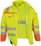 Gelb orange Winter-Warnschutz-Pilotenjacke 3 in 1 PKA