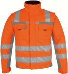 Winter-Warnschutz-Softshelljacke orange