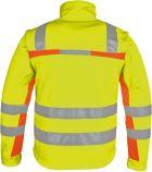 Winter-Warnschutz-Softshelljacke 3-farbig gelb-orange-grau