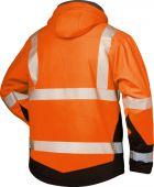 Warnschutz-Winter Softshell Jacke orange/schwarz