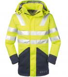 Multinorm Warnschutz-Jacke-Parka gelb marine